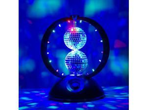 Weanas® Energy Saving Table Double Mirror Disco Ball Strobe Disco-Style LED Lighting Fixture Party Light For Party, Dancing, Magic Show or Night Light to Create a Fantastic Atmosphere