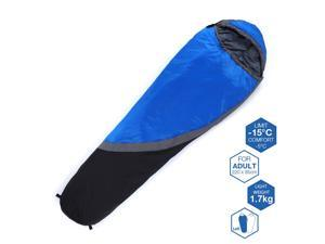 Weanas® 4 Season Outdoor Mummy Sleeping Bag, +5 Degree F, Waterproof Lightweight Breathable Comfortable, for Travel, Adventure, Camping, Hiking (Blue)