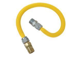 BrassCraft CSSC14E-48-X5 3/4 in MIP x 1/2 in MIP x 48 in Safety PLUS Gas Appliance Connector