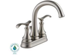 Delta 25730LF-SP Kinley 4 in. Centerset 2-Handle Bathroom Faucet in SpotShield Brushed Nickel