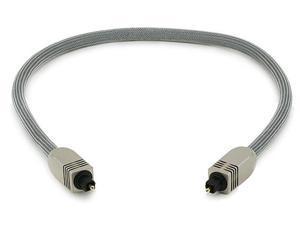 Premium S/PDIF (Toslink) Digital Optical Audio Cable, 18 inches