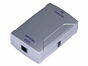 Digital Coaxial (RCA) to S/PDIF (Toslink) Digital Optical Audio Converter