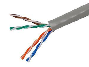 1000FT Cat5e Bulk Bare Cable Copper Ethernet Cable, UTP, Stranded, In-Wall Rated (CM), 350MHz, 24AWG - Gray - GENERIC
