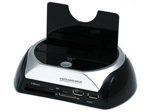 SATA HDD Docking Station w/ Card Reader & 2 Port USB Hub (USB+E-SATA)