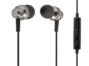 Enhanced Bass Hi-Fi Earphones with Built-in Microphone and In-line Controls Compatible with Android™ Devices