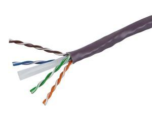 1000FT Cat6 Bulk Bare Cable Copper Ethernet Cable, UTP, Solid, Riser Rated (CMR), 350MHz, 23AWG - Purple - GENERIC