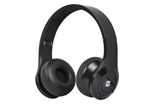 Bluetooth On-the-Ear Headphones with Built-in Microphone-Black