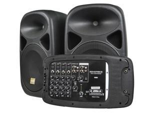Stage Right 130-Watt 8-channel PA System with Two 10-inch speakers