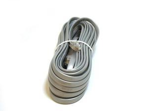 Phone cable, RJ12 (6P6C), Straight - 25ft for Data