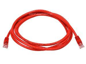 7ft 24AWG Cat6 500MHz Crossover Bare Copper Ethernet Network Cable - Red