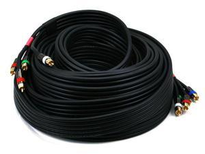 50ft 18AWG CL2 Premium 5-RCA Component Video/Audio Coaxial Cable (RG-6/U) - Black  (2776)