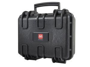 """Weatherproof Hard Case with Customizable Foam fits HUBSAN Quadcopter Drones, 12"""" x 10"""" x 6"""""""