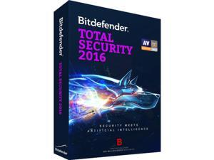 Bitdefender Total Security 2016 2 Yr 5 Devices Windows Only Download Worldwide Use