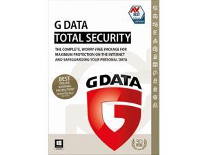 G Data TotalSecurity 1 Yr 3 Devices Windows Only Download Worldwide Use