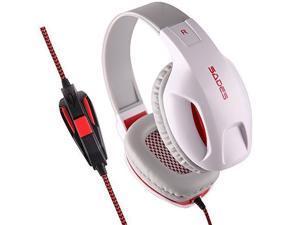 SA-808 LED Lighting USB HIFI Stereo Surround Sound Headphones Over-Ear Headphone Headset with Microphone for PC Laptop Mac