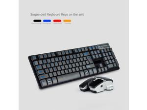 2.4GHz Slim Suspended Wireless Keyboard and Wireless Mouse Set 4 color