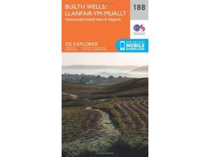 OS Explorer Map (188) Builth Wells, Painscastle and Talgarth (Map)