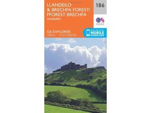 OS Explorer Map (186) Llandeilo and Brechfa Forest (Map)