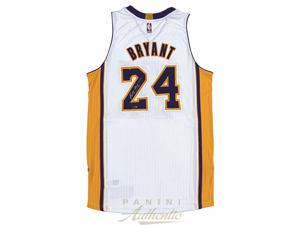 KOBE BRYANT Signed White 2014 Authentic Lakers Jersey PANINI.