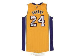 KOBE BRYANT Signed 2014 Adidas Gold Authentic Lakers Jersey PANINI.