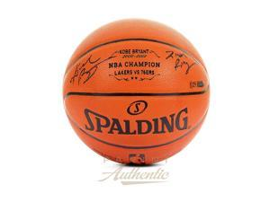 "KOBE BRYANT Signed & Inscribed ""2nd Ring"" Champ Basketball LE 24 PANINI."