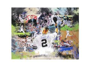 "DEREK JETER Signed ""Greatest Moments"" 30 x 38 Canvas STEINER."