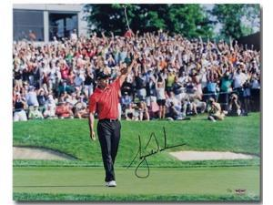 "TIGER WOODS Hand Signed ""73rd Victory"" 16 x 20 Photograph UDA LE 73"