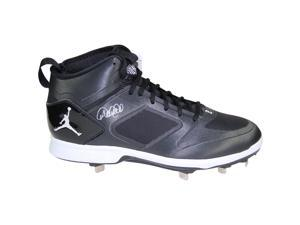 DEREK JETER Signed Jordan Brand Black & White Lux Cleat STEINER.