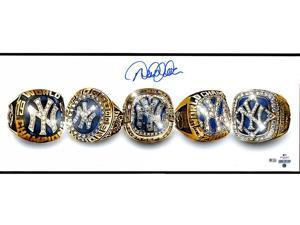 DEREK JETER Signed 5 Rings Photo STEINER.