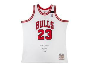 MICHAEL JORDAN Signed & Embroidered Chicago Bulls M&N 1992 Jersey LE of 23 UDA.