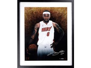 LeBRON JAMES Hand Signed 16 x 20 Heat Photo Display LE 100 UDA.