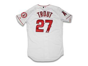 MIKE TROUT Signed Authentic Angels Jersey STEINER.