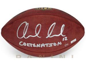 "ANDREW LUCK Signed & Inscribed ""COLTSNATION"" Authentic Football LE 12/50 PANINI."