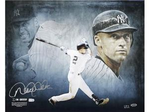 "DEREK JETER Hand Signed ""The Captain"" 16 x 20 STEINER LE 22"