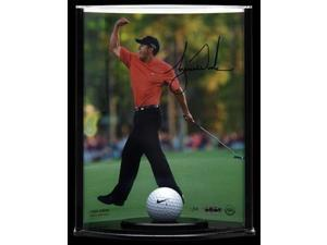TIGER WOODS Signed Display Range Used Ball LE of 50 UDA.