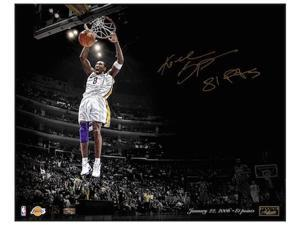 "KOBE BRYANT Signed ""81 Points"" 16 x 20 Photograph LE 24 PANINI"