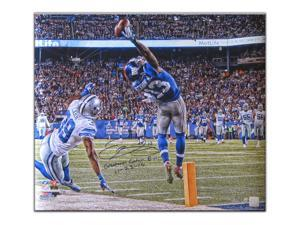 ODELL BECKHAM JR Signed & Inscribed Metallic Paper Photo LE 1/50 STEINER.
