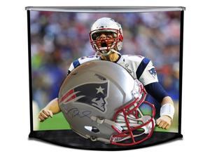 TOM BRADY Signed Authentic Proline Speed New England Patriots Helmet  w/ Custom Designed Curve Display TRISTAR