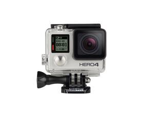 GoPro HERO4 CHDCB-401 Silver 12 MP Action Camera w/ 16GB MicroSD Card & Dual Battery Charger