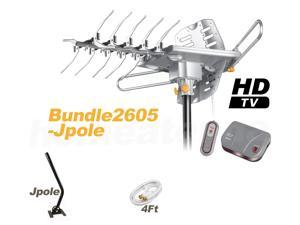 LAVA TV Antenna Bundle HD-2605 Ultra Outdoor TV Antenna with J-Pole Bundle Package