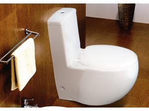Euroto Compact Elongated European Luxury Toilet, One-piece Siphonic