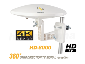 Lava HD-8000 OmniPro Omni-Directional HDTV Antenna The Best Antenna with 360 Degree Multi Directional Features. Can use Both Outdoor and Indoor