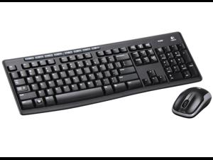 Logitech Wireless Combo MK260 920-002950 Black 8 Hot Keys USB RF Wireless Standard Keyboard and Mouse