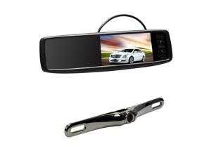 "Universal 4.3"" Car Rear View Mirror Monitor Backup Mirror Anti-glaring Glass+Wireless Reverse RearView Camera Kit"