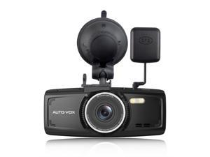 AUTO-VOX D1 Dash Cam With GPS Module 2.7'' Dash Cam Car DVR Video Recorder Full HD 1080P Dashboard Camera with Night Vision G-Sensor Loop Recording Parking Mode 140° Wide View Angle 32G Mirco SD Card