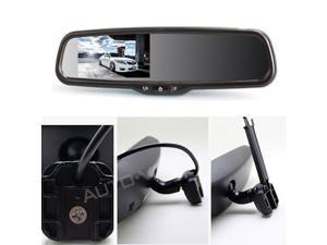"AUTO-VOX 4.3"" LCD Display Rearview Mirror Monitor Auto Adjusting Brightness Car Rear View Mirror Parking Asist System With OEM Bracket Dual Video Inputs For DVD Player, Reversing Backup Camera"