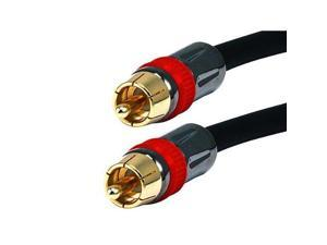 Monoprice12ft High-quality Coaxial Audio/Video RCA CL2 Rated Cable - RG6/U 75ohm (for S/PDIF, Digital Coax, Subwoofer, and Compos