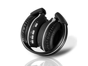 Pyle Audio PHPMP39 - Over Ear Wireless Bluetooth SD Headphones - Features Hands Free Calling with Built in Mic, SD Reader for MP3 Playback, Transport Controls , FM Radio and Folding Portable Design