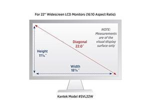 Kantek SVL22W Blackout Privacy Filter fits 22-Inch Widescreen LCD Monitors