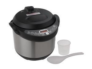 Cook's Essentials 4 Quart Digital Stainless Steel Pressure Cooker